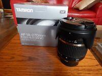 Nikon D3100, Tamron 18-270 lens and camera case.