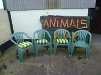 Green Garden Chairs Ideal Use For Christmas Delivery Available £5