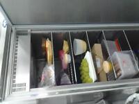 Commercial upright single door fridge