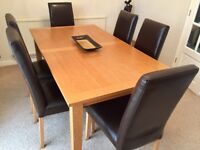 Schreiber Oak Dining Table and Chairs