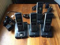 BT Synergy 5500 quad phone set