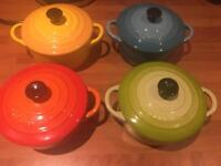 Le Creuset petit casserole dishes set of 4.