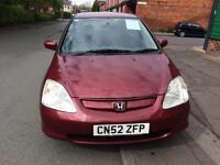 Honda Civic cdti 2002 Diesel 5 doors £475