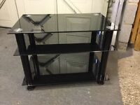 Toughened glass television stand