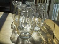 Glass jugs and bottles - perfect for weddings!