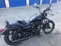 Sinnis hoodlum 125cc motorcycle