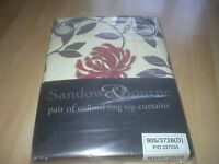 "Ring top curtains 46"" wide x 72"" long - New in packet"