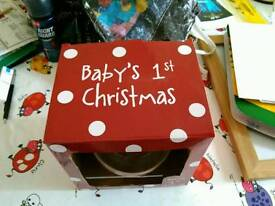 Baby's First Christmas dinner set