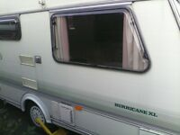 2 berth elddis caravan plus full awning.