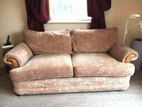 Stylish corduroy 2 seater sofa - very good condition