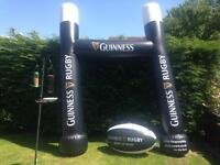 Inflatable rugby goal & ball
