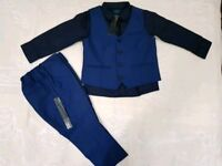 Next Signature Boys Smart Shirt, Trouser & Waistcoat Set NEW