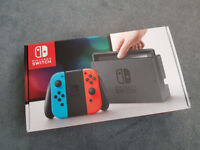 NINTENDO SWITCH NEON CONSOLE - BARGAIN with warranty