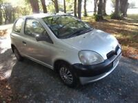 2003 TOYOTA YARIS 1.4 TURBO DIESEL £30 YEAR ROAD TAX FSH LONG MOT