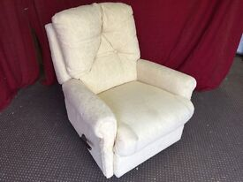 FREE CREAM FABRIC RECLINER ARM CHAIR,CAN DELIVER