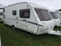 2007 Abbey Vogue 540 - 6 Berth Caravan with rear fixed bunks (inc. awning)