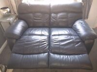 3 and 2 piece Leather Suite - 4 seats with recliner functionality