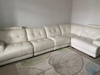Grade A leather sofa and swivel chair from Cousins