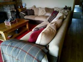Large sectional corner sofa
