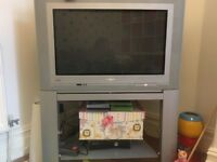 Philips TV with built in stand and DVD player