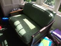 Ercol Bergere sofa green