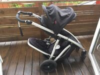 Phil and Ted double buggy with carrycot. Verve version