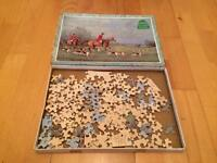 Wooden horse and hounds jigsaw