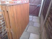 Fence Panels x 3 Feather edge Measure 6 x 4 Painted brown