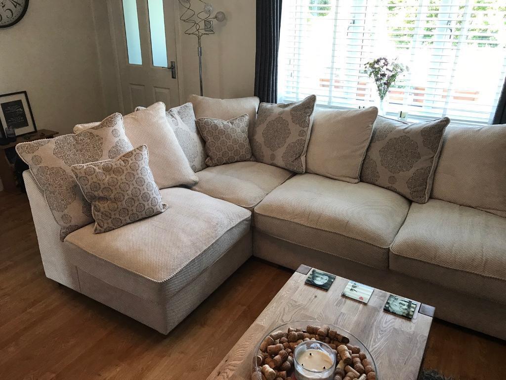 nebraska corner pillow back sofa with footstool and armchair  in  - nebraska corner pillow back sofa with footstool and armchair