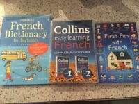 French dictionary, and two different cds to play in car.. great for kids