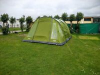 Vango Icarus 500 5 Person Tent + Footprint + Electric Line + 2 Chairs & Table