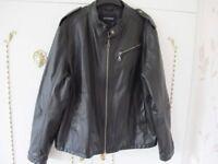 Gents leather look jacket by M&S Autograph range