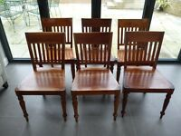 Dining Room Chairs. Made from Sheesham wood. A set of 6.