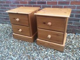 Solid Chunky Pine bedside tables. Dovetail Joints. Tongue and groove