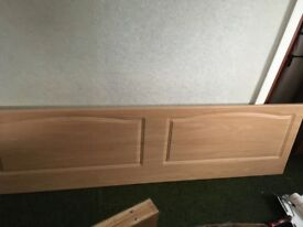 Headboard to be fitted to wall