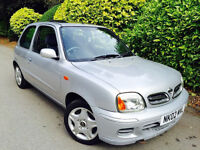 **SUPER LOW MILES+10STAMPS** NISSAN MICRA 1.0 TEMPEST + FULL SERV HISTORY + ONE YEAR MOT + IMMACULAT