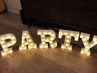 party light up letters