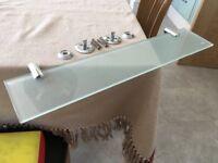 Miller glass bathroom shelf and all fittings