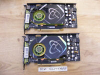 2x XFX (nVidia) 7900GS 256MB GDDR3 graphics cards for sale.