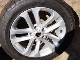 Nissan Juke wheel and two as new tyres