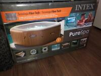 4 person round intex pure spa new in box £400 no offers cost £700 got 6 seater £550