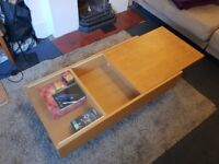 URGENT - Coffee Table with hidden compartments looking for a new home ASAP
