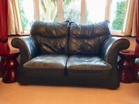 Shabby chic leather sofa from Julia Jones