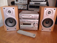 Sony Mini Hifi System Mini-disc CD Tape & Tuner - Speakers 80 Watt & Remote