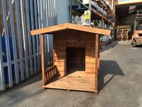 Luxury dog kennel with porch