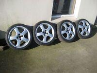 "Polaris OZ 17"" alloys fit honda, mazda, vauxhall, renault, 205/40R17 tyres 4x100 FITMENT"