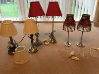 Laura Ashley lamp stands and silk shades