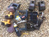 Ryobi 18V Power Tools, Hammer Drill, Jigsaw, Sander and Accessories