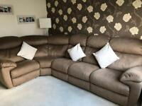 Sofology Corner Sofa - brown with recliners - only 6 months old