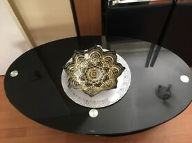 Gorgeous Black Glass 3 level coffee table